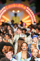 SAO PAULO, SP, 18 DE MARCO 2013 - SPFW CAVALERA - Modelo durante desfile da grife Cavalera no primeiro dia do Sao Paulo Fashion Week primavera-verão na Bienal do Ibirapuera na regiao sul da cidade de Sao Paulo nesta segunda-feira, 18. FOTO: WILLIAM VOLCOV - BRAZIL PHOTO PRESS. .