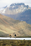 Hikers in Wrangell-St. Elias National Park, Alaska