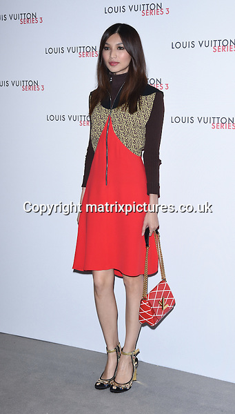 NON EXCLUSIVE PICTURE: MATRIXPICTURES.CO.UK<br /> PLEASE CREDIT ALL USES<br /> <br /> WORLD RIGHTS<br /> <br /> British actress Gemma Chan attending the Louis Vuitton Series 3 Exhibition launch party, in London. <br /> <br /> SEPTEMBER 20th 2015<br /> <br /> REF: SLI 152927