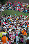 Yani Tseng' supporters cheer on the 18th green during the Day 4 of the LPGA Sunrise Taiwan Championship on at Sunrise Golf Course on October 23, 2011 in Taoyuan, Taiwan. Photo by Victor Fraile / The Power of Sport Images