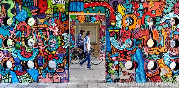 Nederland Amsterdam 2019 . De Bijlmer. Muurschildering in de H-Buurt. Foto Berlinda van Dam / Hollandse Hoogte