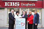Paul Gregory, Bernard Woods and Lucia Britton from EBS present cheque to Lynne and George Archer of Collon Animal Santuary...(Photo credit should read Jenny Matthews/www.newsfile.ie)....This Picture has been sent you under the conditions enclosed by:.Newsfile Ltd..The Studio,.Millmount Abbey,.Drogheda,.Co Meath..Ireland..Tel: +353(0)41-9871240.Fax: +353(0)41-9871260.GSM: +353(0)86-2500958.email: pictures@newsfile.ie.www.newsfile.ie.