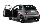 Rear three quarter door view of a 2014 Fiat 500c Abarth Cabrio 2 Door Convertible