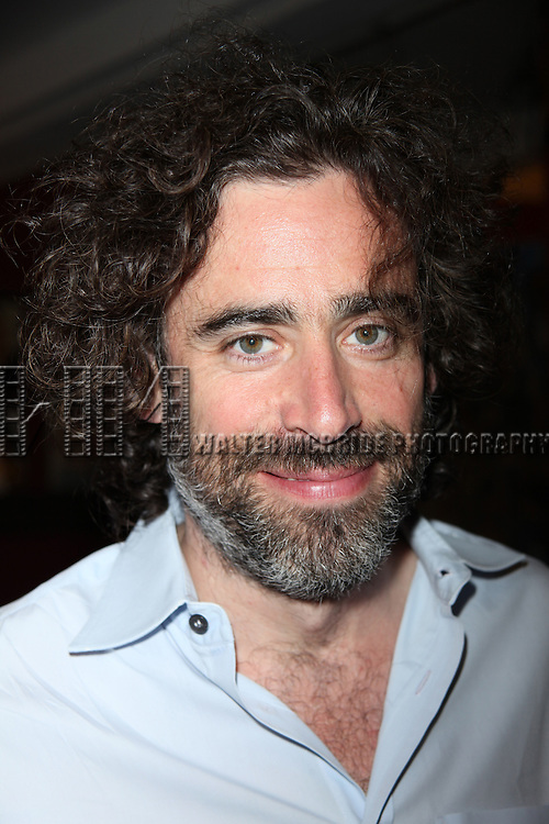 Stephen Mangan bids farewell to Broadway with an afternoon tea service at Sardi's Restaurant in New York City.
