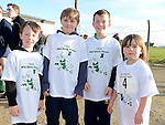 Tom and James Maguire and  Matthew and Eleanor Kane  at the Wild Goose Lodge run at Westerns GAA Club Reaghstown. Photo:Colin Bell/pressphotos.ie