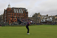 Victor Perez (FRA) on the 18th fairway during Round 4 of the Alfred Dunhill Links Championship 2019 at St. Andrews Golf CLub, Fife, Scotland. 29/09/2019.<br /> Picture Thos Caffrey / Golffile.ie<br /> <br /> All photo usage must carry mandatory copyright credit (© Golffile | Thos Caffrey)