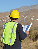 Stock photo Wind Turbine Engineer