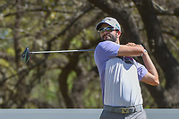Adam Hadwin (CAN) watches his tee shot on 12 during round 1 of the World Golf Championships, Dell Match Play, Austin Country Club, Austin, Texas. 3/21/2018.<br /> Picture: Golffile | Ken Murray<br /> <br /> <br /> All photo usage must carry mandatory copyright credit (&copy; Golffile | Ken Murray)