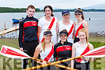 The Workmens Senior Ladies crew at the Killarney regatta on Sunday front l-r: Ciara moynihan, Siobhan Burns, Amie O'Donoghue. Back row: Michael O'Donoghue, Pauline O'Brien, Mary Moynihan and Ciara Browne