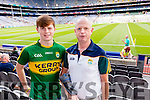 Shane and Canice Walsh, Tralee, supporting the Kingdom, at the All-Ireland football semi-final on Sunday last in Croke Park.