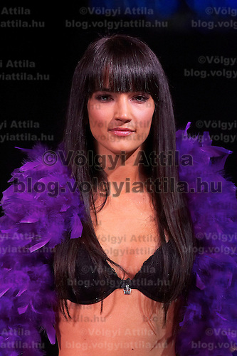Hungarian celebrity Zita Debreczeni presents collections by Pussy Deluxe and Vive Maria during the opening underwear fashion show of the new event hall called Show-Room in Budapest, Hungary on October 26, 2007. ATTILA VOLGYI