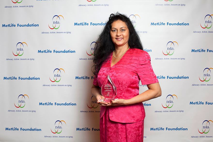 Silver honoree Isha Salas Desselle at the Older Volunteers Enrich America Awards at the Double Tree Hotel in Washington, DC on Friday, June 17, 2011.