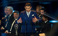 Zurigo 09-01-2017 FIFA Football Awards - Cristiano Ronaldo (POR), player of the year, men, during the Best FIFA Football Awards 2016 in Zurich<br /> Foto Steffen Schmidt/freshfocus/Insidefoto