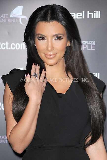 WWW.ACEPIXS.COM . . . . . .October 18, 2010...Kim Kardashian promotes the Ultimate Engagement Ring Search For The World's Best Couple Contest at Brasserie Ruhlmann on October 18, 2010 in New York City.....Please byline: KRISTIN CALLAHAN - ACEPIXS.COM.. . . . . . ..Ace Pictures, Inc: ..tel: (212) 243 8787 or (646) 769 0430..e-mail: info@acepixs.com..web: http://www.acepixs.com .