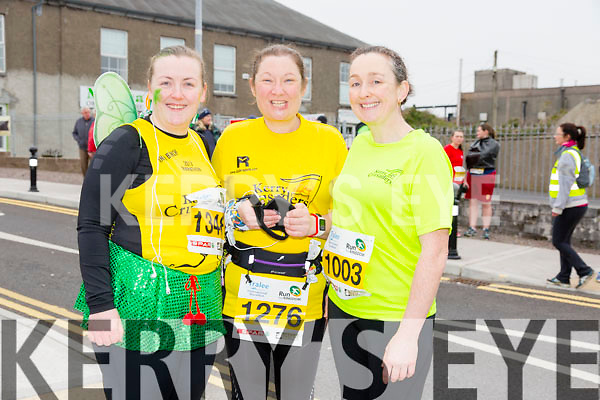 Michelle Mulvihill, 1348, Elaine Leahy, 1276 and Belinda Anderson, 1003  who took part in the 2015 Kerry's Eye Tralee International Marathon Tralee on Sunday.