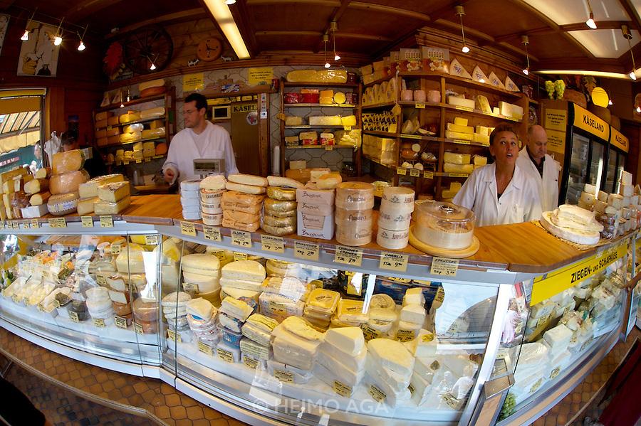 The Naschmarkt, Vienna's biggest market. Kaeseland (Cheeseland).