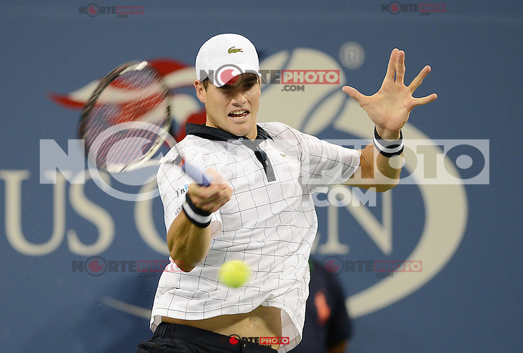 FLUSHING NY- SEPTEMBER 2: Philipp Kohlschreiber Vs John Isner on Arthur Ashe stadium at the USTA Billie Jean King National Tennis Center on September 2, 2012 in in Flushing Queens. Credit: mpi04/MediaPunch Inc. ***NO NY NEWSPAPERS*** /NortePhoto.com<br />