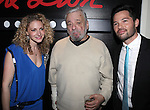 Lauren Molina, Stephen Sondheim and Jason Tam attend the opening night performance reception for the Keen Company production of Marry Me A Little at the Clurman Theatre in New York City on10/2/2012.