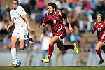 03 November 2013: Boston College's Stephanie McCaffrey (9) is chased by North Carolina's Hanna Gardner (71). The University of North Carolina Tar Heels hosted the Boston College Eagles at Fetzer Field in Chapel Hill, NC in a 2013 NCAA Division I Women's Soccer match and the quarterfinals of the Atlantic Coast Conference tournament. North Carolina won the game 1-0.
