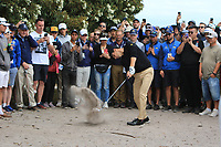 Joaquin Niemann (International) in the sand on the 10th during the First Round - Four Ball of the Presidents Cup 2019, Royal Melbourne Golf Club, Melbourne, Victoria, Australia. 12/12/2019.<br /> Picture Thos Caffrey / Golffile.ie<br /> <br /> All photo usage must carry mandatory copyright credit (© Golffile | Thos Caffrey)