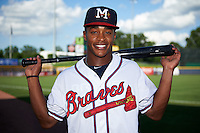 Mississippi Braves outfielder Mallex Smith (1) poses for a photo before a game against the Pensacola Blue Wahoos on May 28, 2015 at Trustmark Park in Pearl, Mississippi.  Mississippi defeated Pensacola 4-2.  (Mike Janes/Four Seam Images)