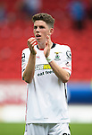 St Johnstone v Inverness Caley Thistle...08.08.15...SPFL..McDiarmid Park, Perth.<br /> Ryan Christie applauds the travelling caley fans<br /> Picture by Graeme Hart.<br /> Copyright Perthshire Picture Agency<br /> Tel: 01738 623350  Mobile: 07990 594431