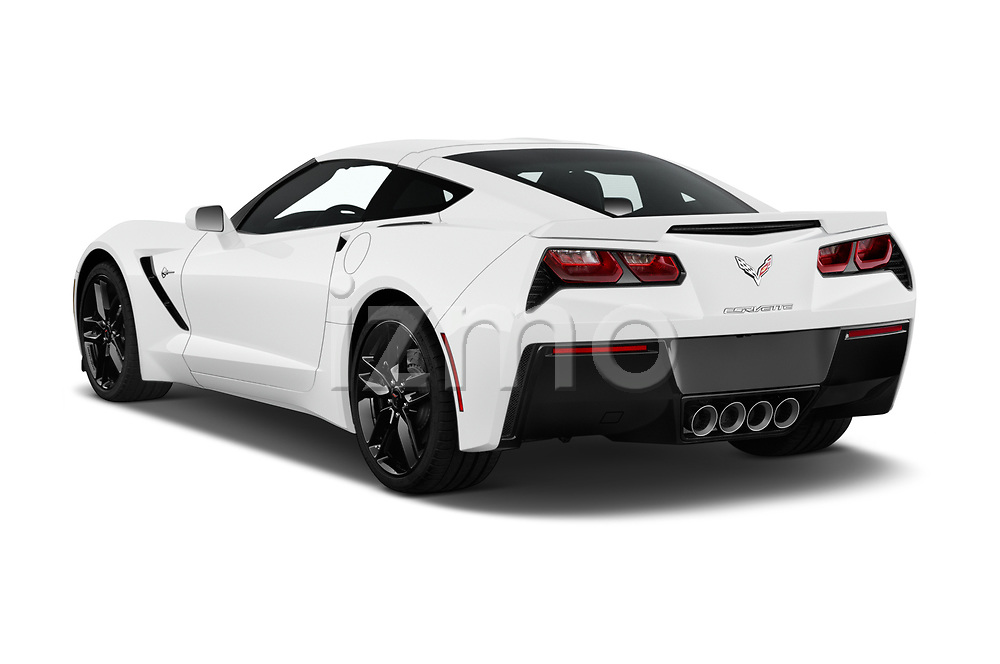Car pictures of rear three quarter view of 2019 Chevrolet Corvette-Stingray 3LT 2 Door Coupe Angular Rear