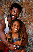 Bermudian father and 11 year old daughter, Horseshoe Bay, Bermuda