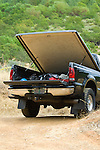 Tonneau cover on black truck