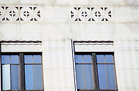 Detail of Federal Reserve Bank, Los Angeles. Designed by John and Donald Parkinson. Classical Moderne.