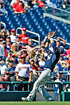 24 September 2012: Milwaukee Brewers infielder Aramis Ramirez pulls in a fly ball against the Washington Nationals at Nationals Park in Washington, DC. The Brewers fell 12-2 to the Nationals in the final game of their 4-game series, splitting the series at two. Mandatory Credit: Ed Wolfstein Photo