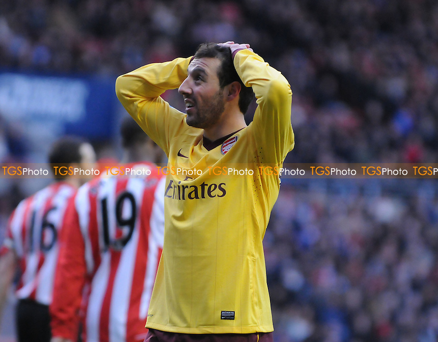 Arsenal's Santi Cazorla is left frsutrated - Sunderland vs Arsenal - Barclays Premier League Football at The Stadium of Light, Sunderland, Tyne & Wear - 09/02/13 - MANDATORY CREDIT: Steven White/TGSPHOTO - Self billing applies where appropriate - 0845 094 6026 - contact@tgsphoto.co.uk - NO UNPAID USE.