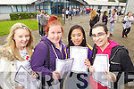 Junior Cert students from Mercy Mounthawk Secondary collecting their results on Wednesday, from left: Clodagh Bissett, Clodagh Roche, Jaycee Ybanez and Ciara Curtin, from Tralee..