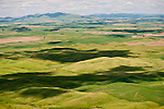 Dappled rolling farmlands during spring from Steptoe Butte, Wash.