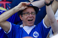 Cardiff City fans ahead of the Sky Bet Championship match between Cardiff City and Reading at the Cardiff City Stadium, Cardiff, Wales on 6 May 2018. Photo by Mark  Hawkins / PRiME Media Images.
