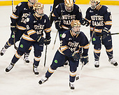 Cam Morrison (Notre Dame - 26), Jake Evans (Notre Dame - 18), Andrew Oglevie (Notre Dame - 15), Dennis Gilbert (Notre Dame - 4), Tory Dello (Notre Dame - 6) - The Boston College Eagles defeated the University of Notre Dame Fighting Irish 6-4 (EN) on Saturday, January 28, 2017, at Kelley Rink in Conte Forum in Chestnut Hill, Massachusetts.The Boston College Eagles defeated the University of Notre Dame Fighting Irish 6-4 (EN) on Saturday, January 28, 2017, at Kelley Rink in Conte Forum in Chestnut Hill, Massachusetts.