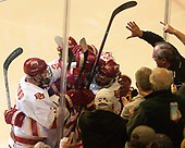 Tariq Hammond (DU - 3), Michael Davies (DU - 21), Jarid Lukosevicius (DU - 14), Dylan Gambrell (DU - 7) - The University of Denver Pioneers defeated the University of Minnesota Duluth Bulldogs 3-2 to win the national championship on Saturday, April 8, 2017, at the United Center in Chicago, Illinois.