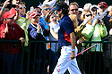 Bubba Watson of Team USA shakes hands with the spectators during practice thursday of the 39th Ryder Cup matches, Medinah Country Club, Chicago, Illinois, USA.  28-30 September 2012 (Picture Credit / Phil Inglis)