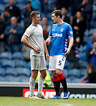 28.04.2019 Rangers v Aberdeen: Dom Ball and Lee Wallace