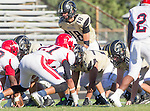 Palos Verdes, CA 10/09/15 - Daniel Schubert (Peninsula #18) in action during the Morningside - Peninsula varsity football game.  Morning side defeated Peninsula 24-21.