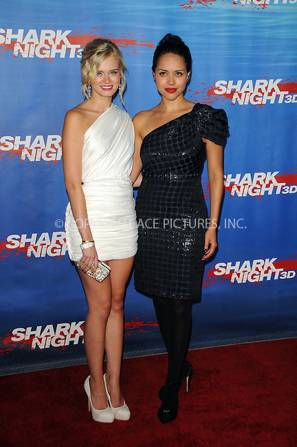 WWW.ACEPIXS.COM . . . . .  ....September 1 2011, LA....Actresses Sara Paxton and Alyssa Diaz arriving at the screening of 'Shark Night 3D' on September 1, 2011 in Universal City, California.....Please byline: PETER WEST - ACE PICTURES.... *** ***..Ace Pictures, Inc:  ..Philip Vaughan (212) 243-8787 or (646) 679 0430..e-mail: info@acepixs.com..web: http://www.acepixs.com