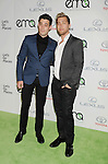 BURBANK, CA- OCTOBER 18: TV personality/singer Lance Bass (R) and actor Michael Turchin arrive at the 2014 Environmental Media Awards at Warner Bros. Studios on October 18, 2014 in Burbank, California.