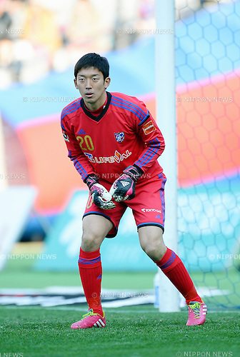 Shuichi Gonda (FC Tokyo),<br /> MARCH 8, 2014 - Football / Soccer :<br /> 2014 J.League Division 1 match between F.C.Tokyo 1-1 Ventforet Kofu at Ajinomoto Stadium in Tokyo, Japan. (Photo by AFLO)