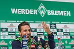 08.10.2018, Mixed Zone - Weserstadion, Bremen, GER, 1.FBL, Werder Bremen, Claudio Pizarro (Werder Bremen #04) Mixed Zone, <br /> <br /> im Bild<br /> Claudio Pizarro (Werder Bremen #04), <br /> <br /> Foto &copy; nordphoto / Ewert