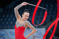 September 10, 2015 - Stuttgart, Germany - ANNA RIZATDINOVA of Ukraine performs during AA qualifications at 2015 World Championships.