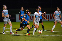 Kansas City, MO - Saturday July 22, 2017: Desiree Scott, Abby Erceg during a regular season National Women's Soccer League (NWSL) match between FC Kansas City and the North Carolina Courage at Children's Mercy Victory Field.