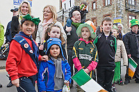 North Quay  Constitution Hill at back<br /> St Patricks Day Parade route from George Street through Fair Street Peter Street Shop Street and ending some where down along the North Quay