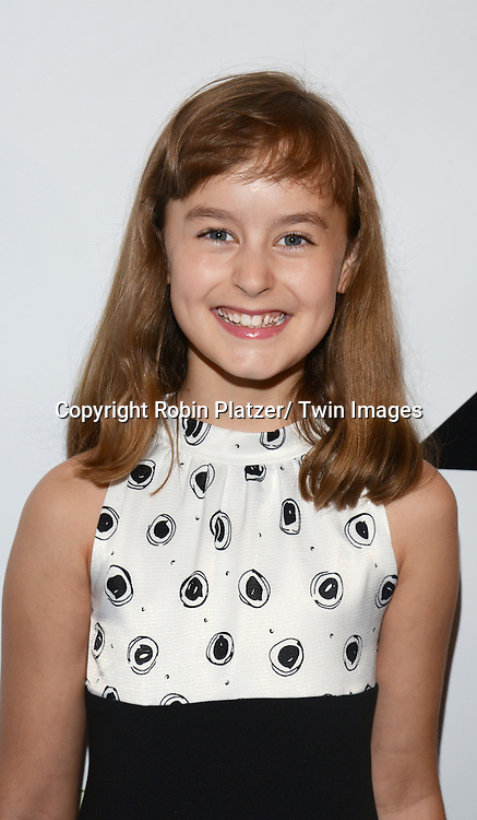 Sydney Lucas attends the 80th Annual Drama League Awards Ceremony and Luncheon on May 16, 2014 at the Marriot Marquis Hotel in New York City, New York, USA.