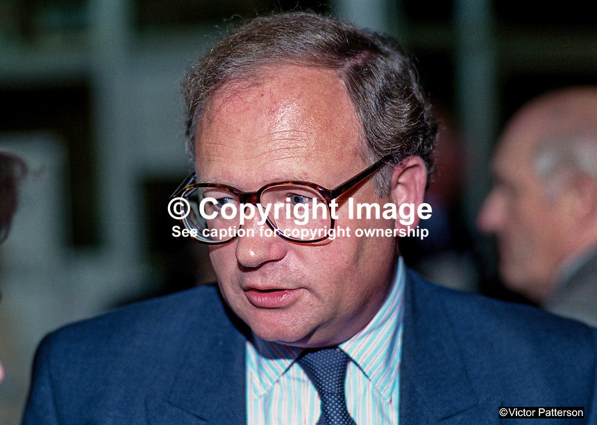 Ian Taylor, MP, politician, Conservative Party, UK, 19901054IT.<br /> <br /> Copyright Image from Victor Patterson, 54 Dorchester Park, <br /> Belfast, UK, BT9 6RJ<br /> <br /> t1: +44 28 9066 1296 (from Rep of Ireland 048 9066 1296)<br /> t2: +44 28 9002 2446 (from Rep of Ireland 048 9002 2446)<br /> m: +44 7802 353836<br /> <br /> e1: victorpatterson@me.com<br /> e2: victorpatterson@gmail.com<br /> <br /> www.victorpatterson.com<br /> <br /> Please see my Terms and Conditions of Use at www.victorpatterson.com. It is IMPORTANT that you familiarise yourself with them.<br /> <br /> Images used on the Internet must be visibly watermarked i.e. &copy; Victor Patterson within the body of the image and copyright metadata must not be deleted. Images used on the Internet have a size restriction of 4kbs and will be chargeable at current NUJ rates unless agreed otherwise.<br /> <br /> This image is only available for the use of the download recipient i.e. television station, newspaper, magazine, book publisher, etc, and must not be passed on to any third party. It is also downloaded on condition that each and every usage is notified within 7 days to victorpatterson@me.com<br /> <br /> The right of Victor Patterson to be identified as the author is asserted in accordance with The Copyright Designs And Patents Act (1988).