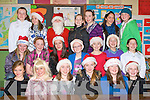 GREAT FUN: The students of Ms Sugrue 6th class having a great time at the Scoil Eoin, Balloonagh Christmas play on Thursday.